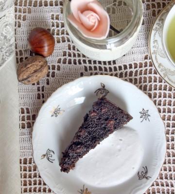 Torta autunnale castagne e cacao