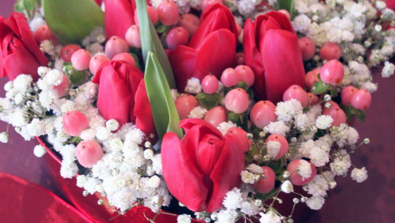 cuore floreale san valentino