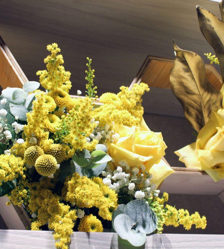 installazione floreale queen ber