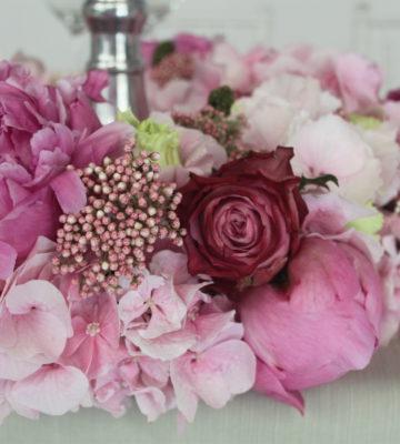 matrimonio rosa allestimenti floreali