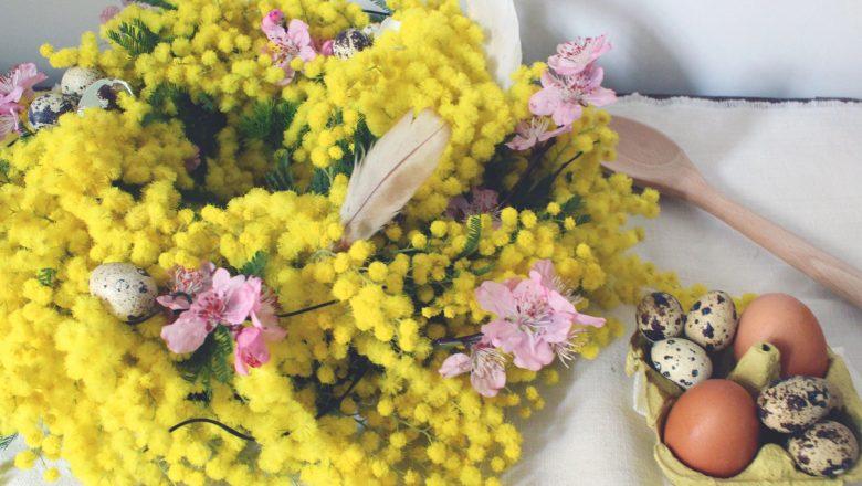 ghirlanda fiori pasqua