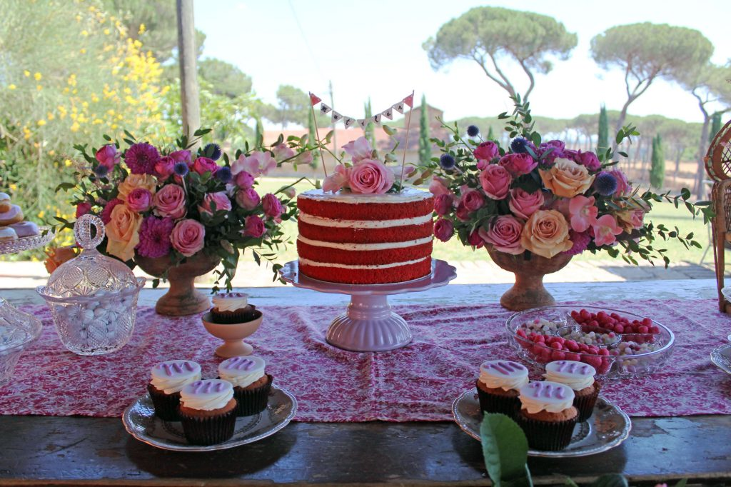 matilde sweet table allestimento fiori