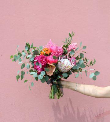 bridal tropical bouquet