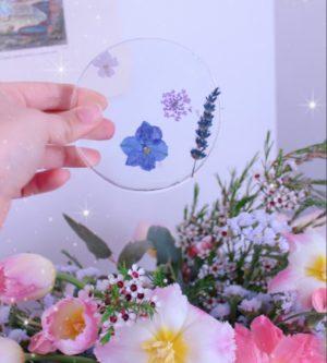 sottobicchieri floreali resina