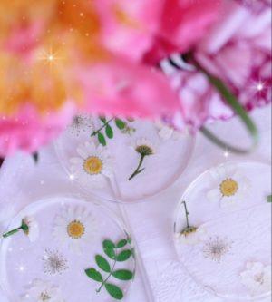 sottobicchieri floreali design per la tavola
