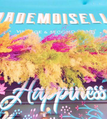 installazione floreale fiori secchi negozio