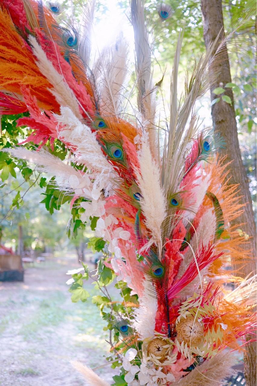arco di fiori secchi pampas